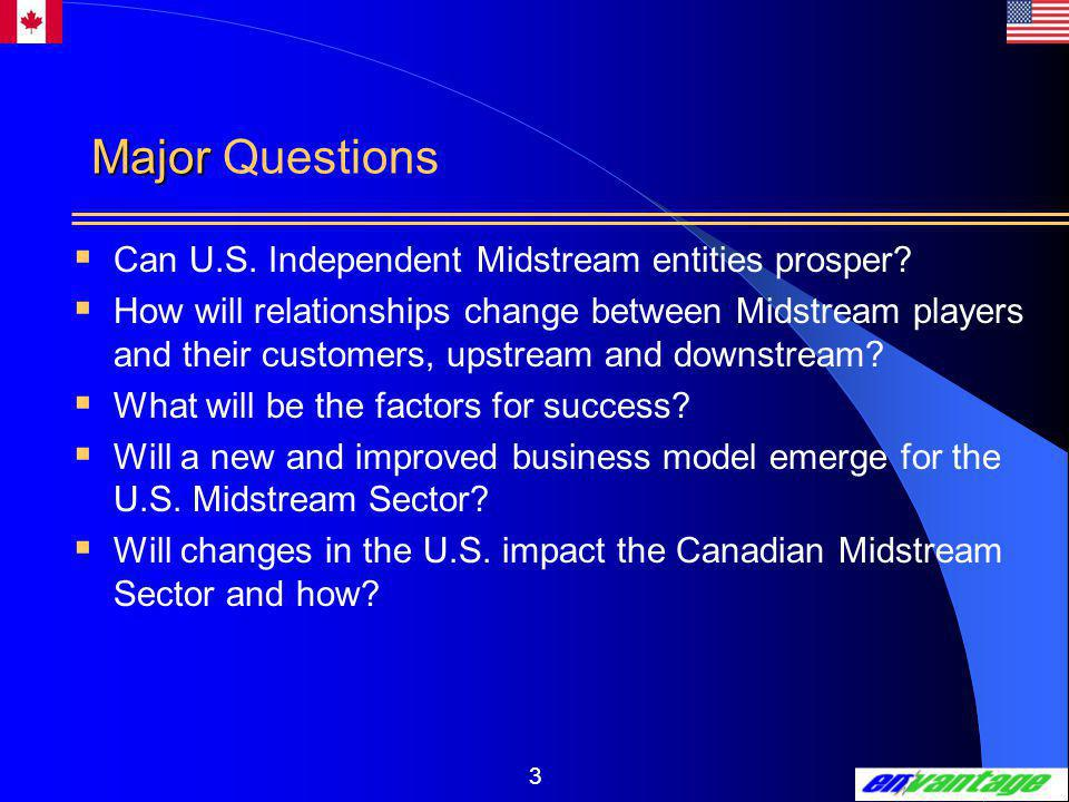 3 Major Major Questions  Can U.S. Independent Midstream entities prosper.