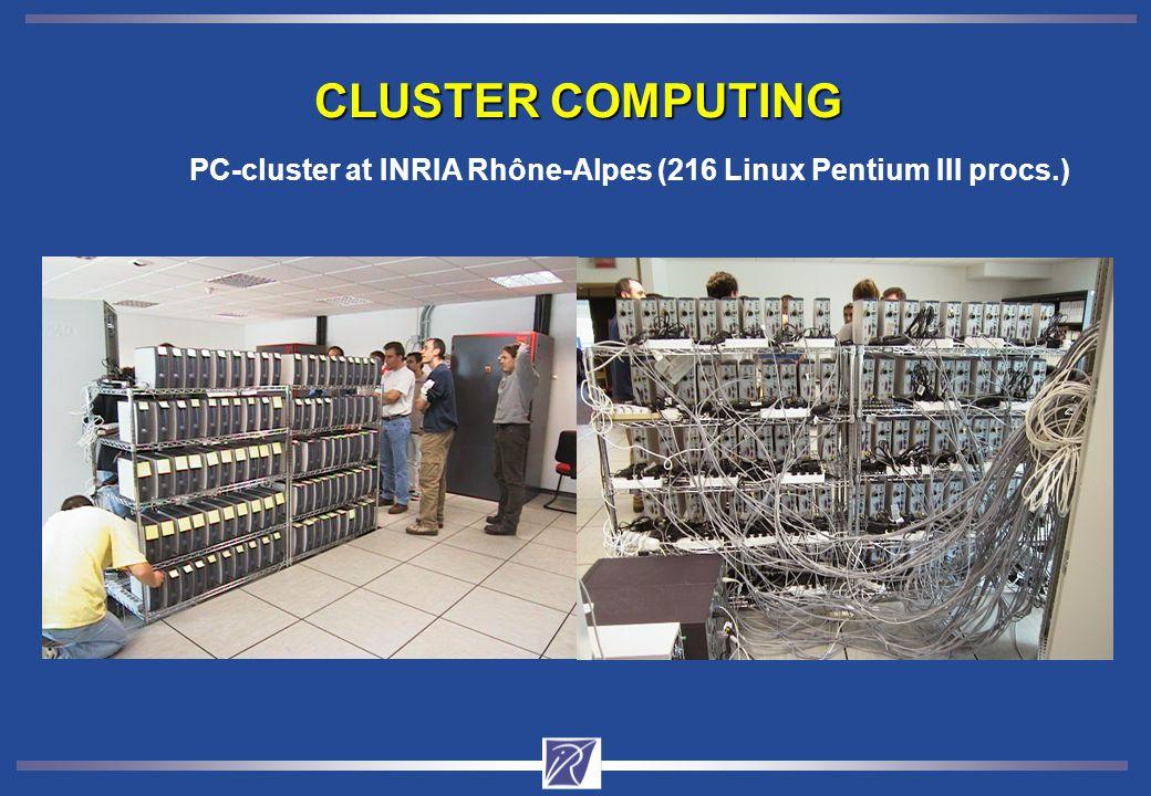 CLUSTER COMPUTING PC-cluster at INRIA Rhône-Alpes (216 Linux Pentium III procs.)