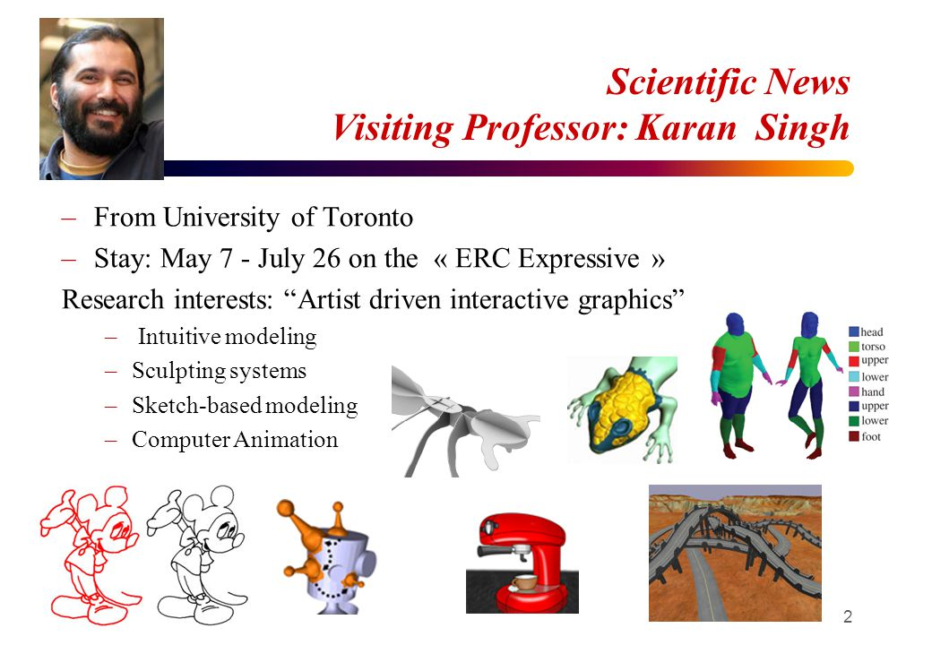 ERC EXPRESSIVE / IMAGINE External seminar In charge: Rémi B and Seou-Ling 26 April - Nicolas Szillas (U.