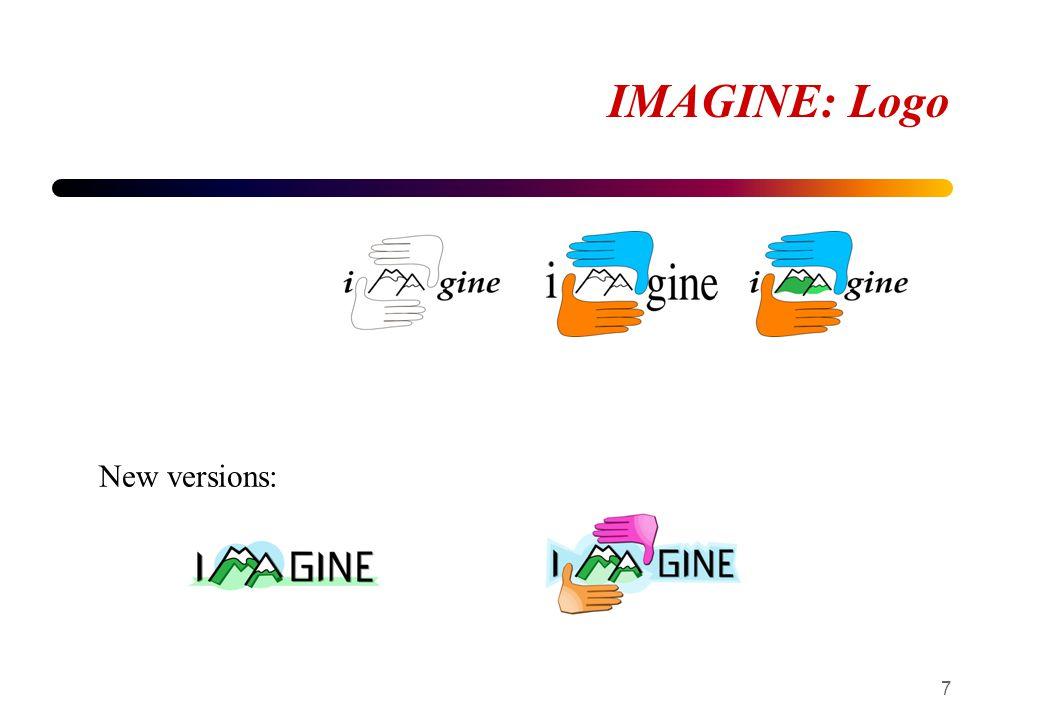 IMAGINE: Logo 7 New versions: