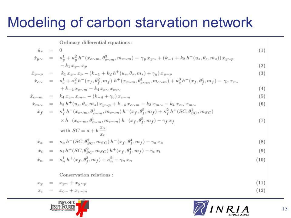 13 Modeling of carbon starvation network