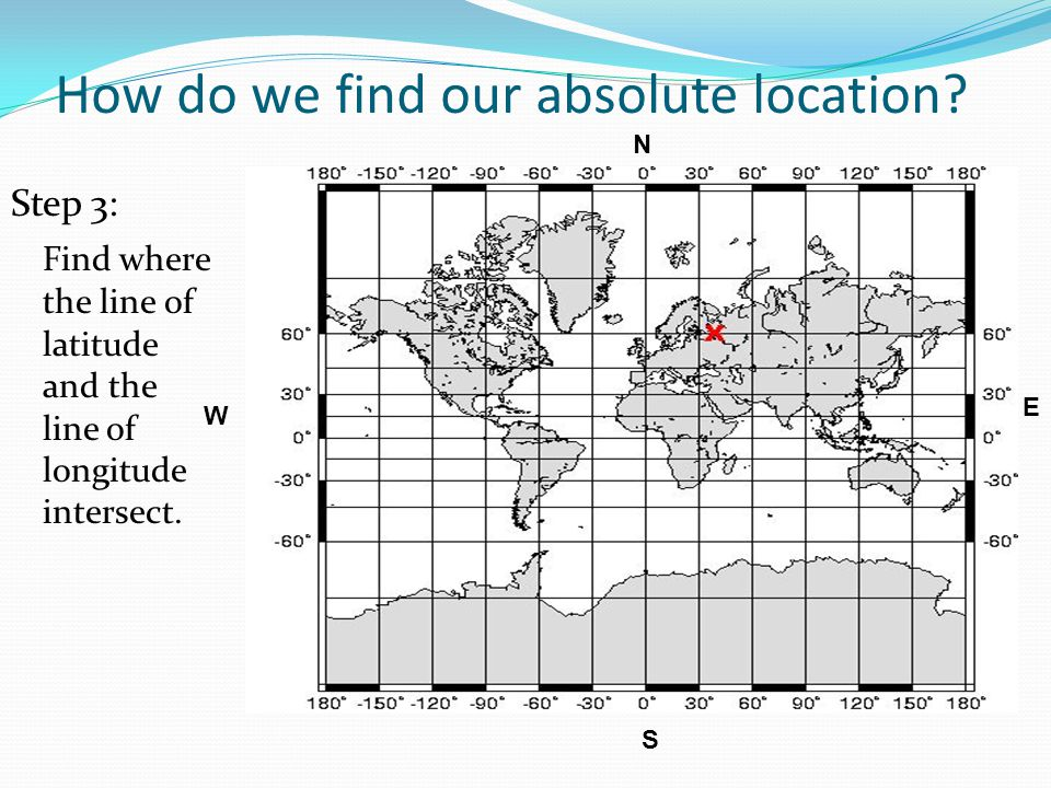 How do we find our absolute location? Step 2: To find a longitude line such as 40 degrees east longitude, you must do three things: 1. Go to your star