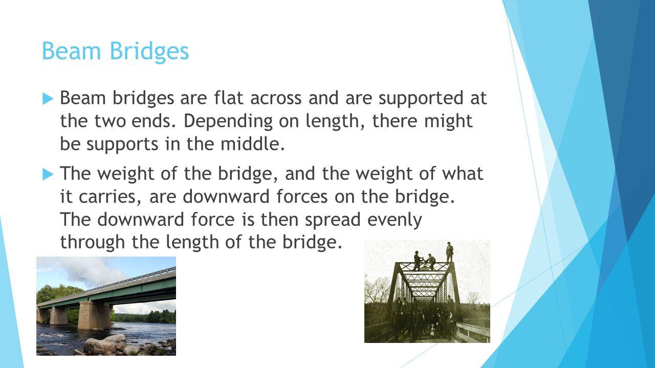 Arch Bridges  Arch bridges go across the river in an arched shape, rather than flat across.