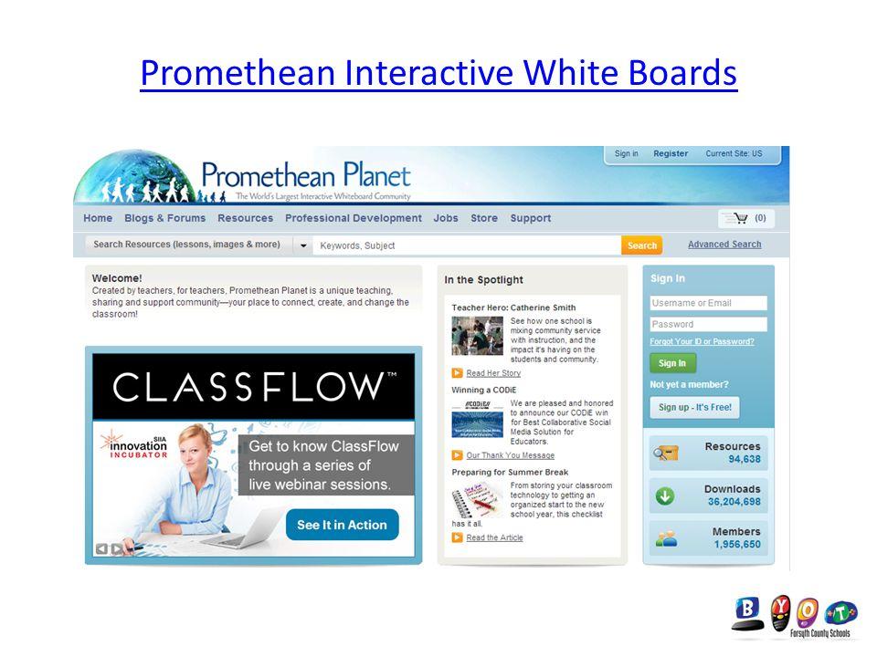 Promethean Interactive White Boards