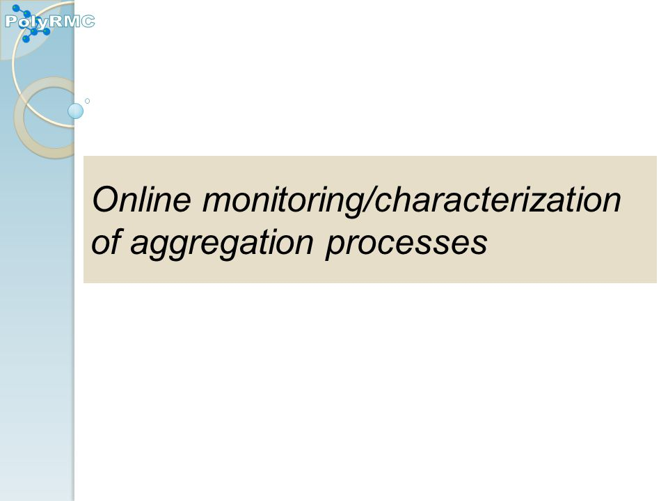 Online monitoring/characterization of aggregation processes