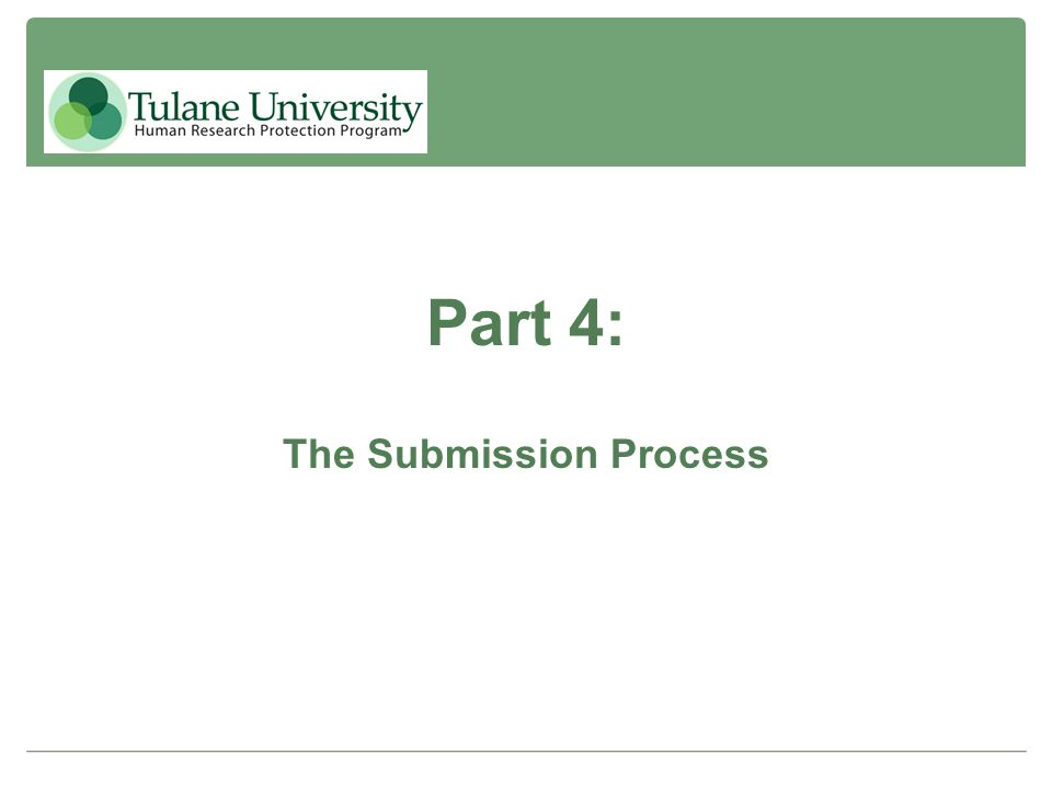 Part 4: The Submission Process