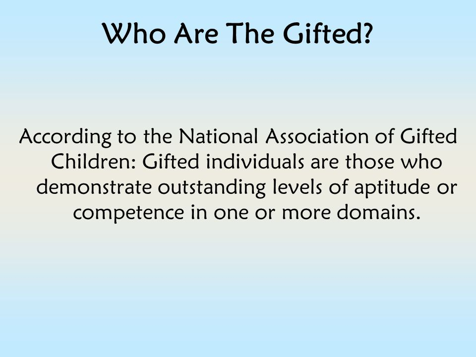 Who Are The Gifted.