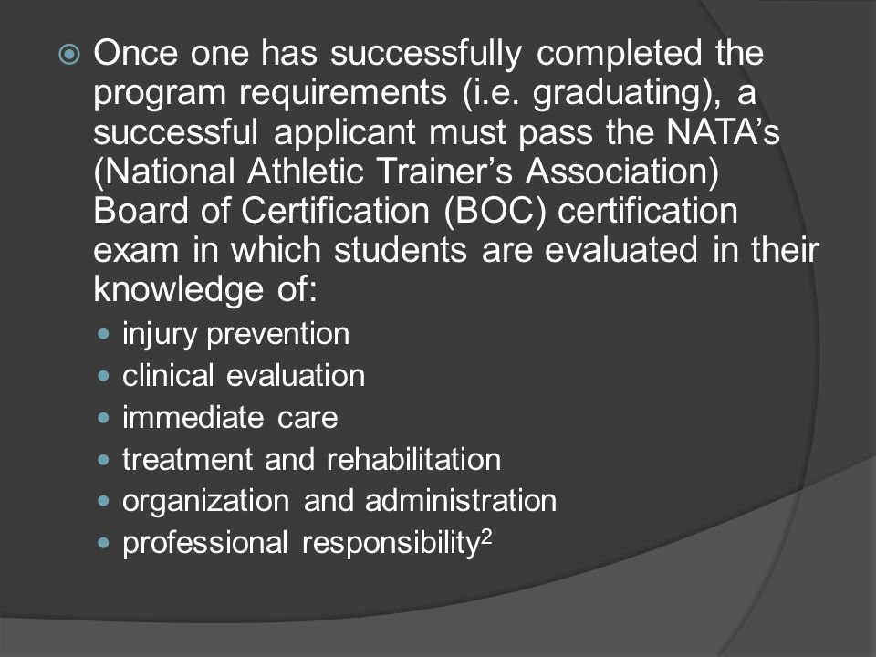  Once one has successfully completed the program requirements (i.e.
