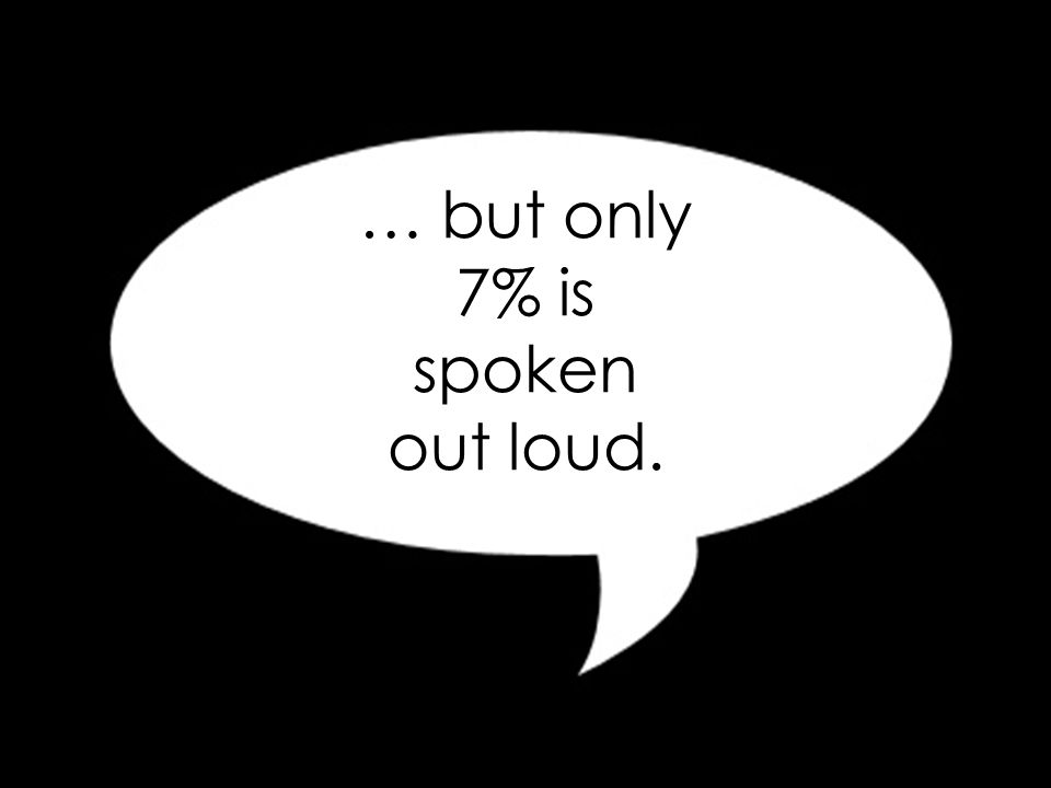 55% of all communication is through body language…