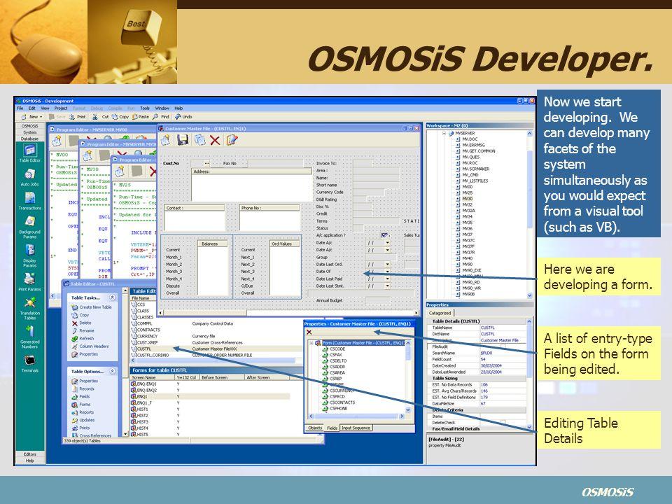 OSMOSiS OSMOSiS Developer.Now we start developing.