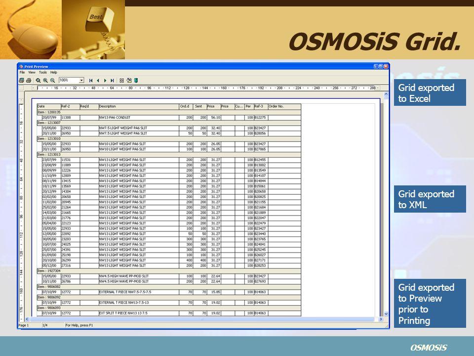 OSMOSiS OSMOSiS Grid.
