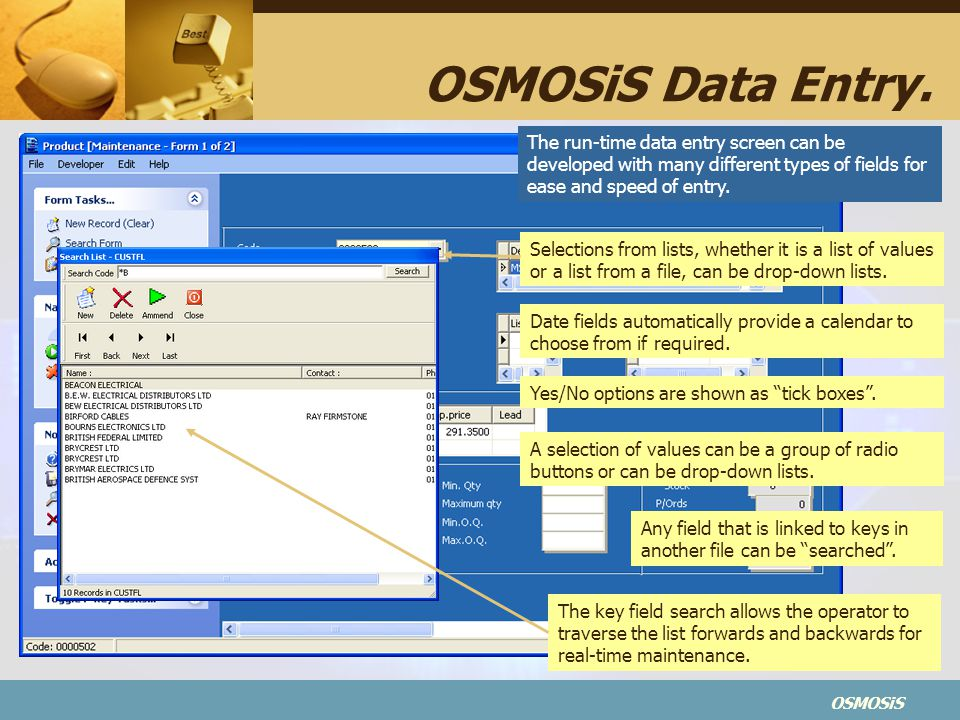 OSMOSiS OSMOSiS Data Entry.