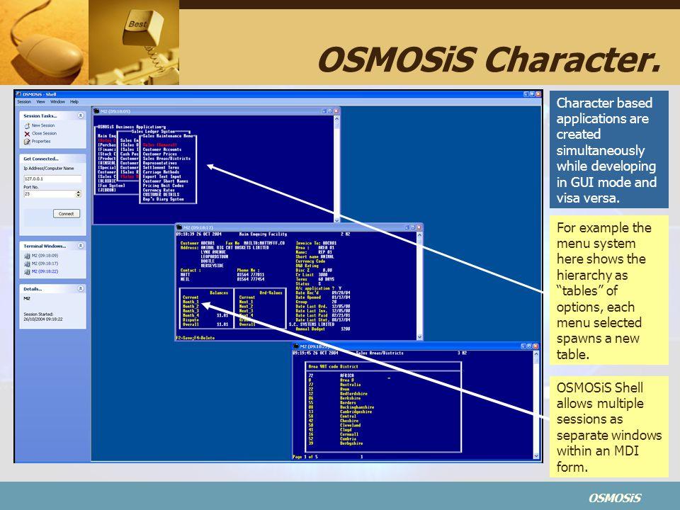 OSMOSiS OSMOSiS Character.