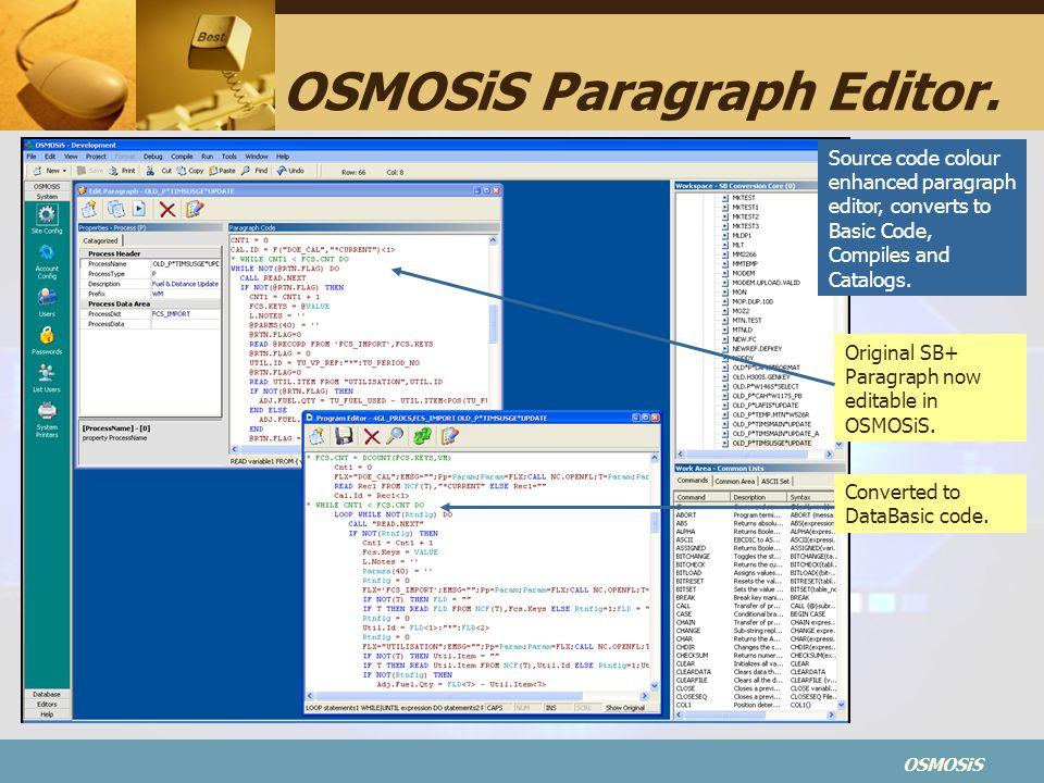 OSMOSiS OSMOSiS Paragraph Editor.