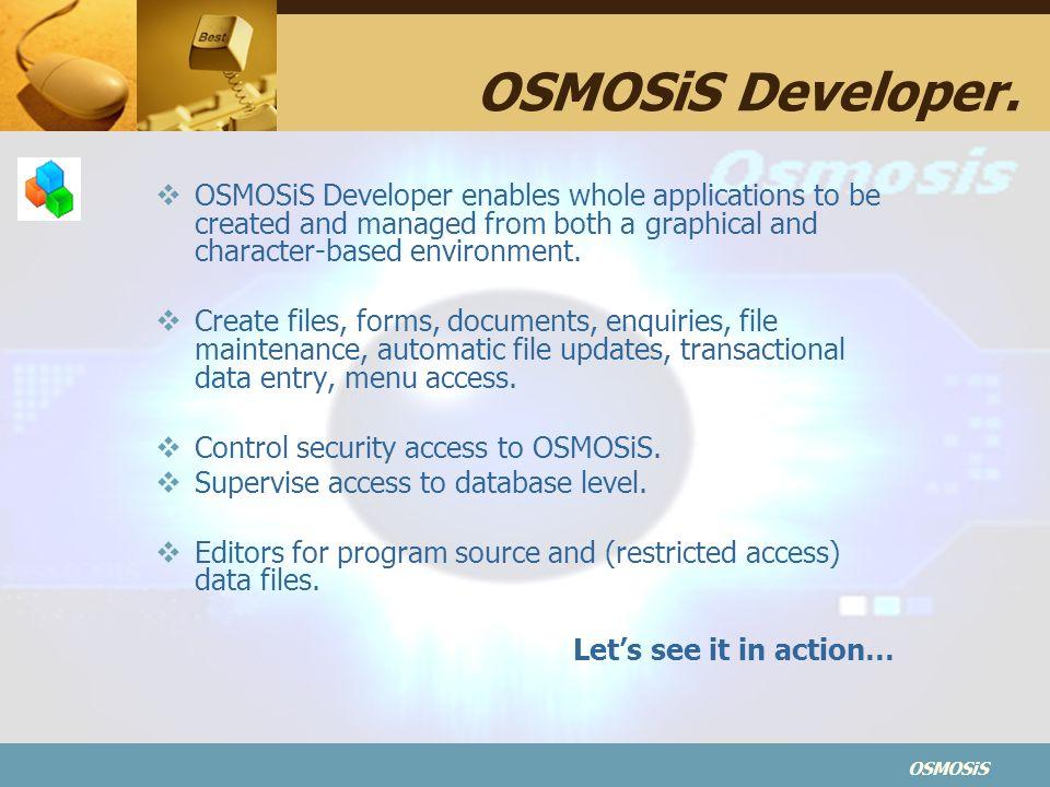 OSMOSiS OSMOSiS Developer.