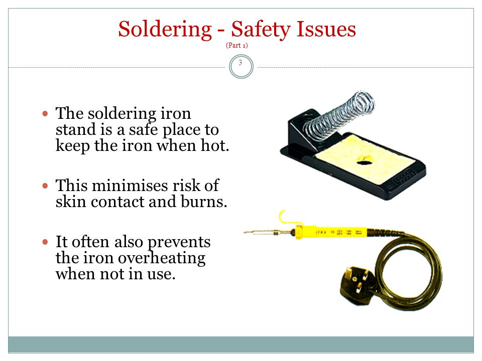 Soldering - Safety Issues (Part 2) The fumes from soldering, usually the heated flux, can cause respiratory problems, especially for asthmatics.