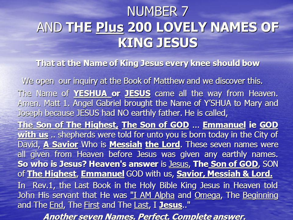 Number 7 the menorah and the bible -- Number 7 the menorah and the bible -- PSALM 12:6 THY WORD IS PURIFIED IN HEAT 7 TIMES 7 COLORS, 7 NOTES – MUSIC, 7 DAYS IN A WEEK 7 x 7 Books FROM GOD EMAIL:KINGJESUSBIBLE@AOL.COM