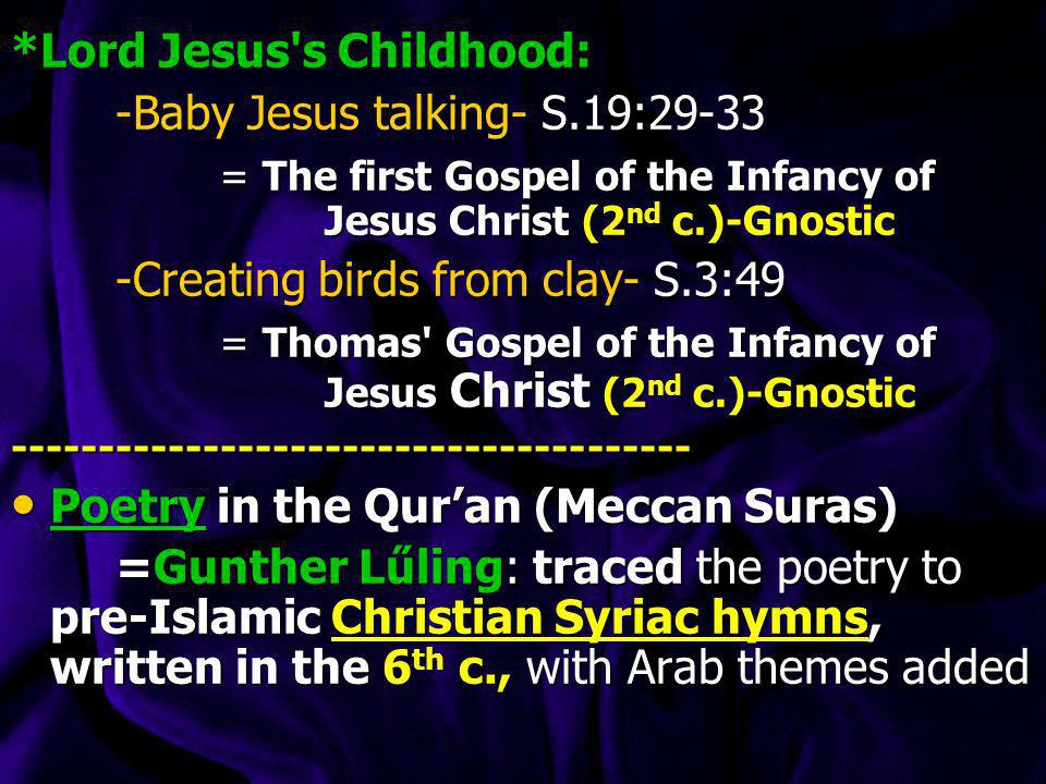 The Palm Tree: (Sura 19:22-26) Qur an- sura 19:22-26 Qur an- sura 19:22-26 So she conceived him [Jesus], and she retired with him to a remote place.