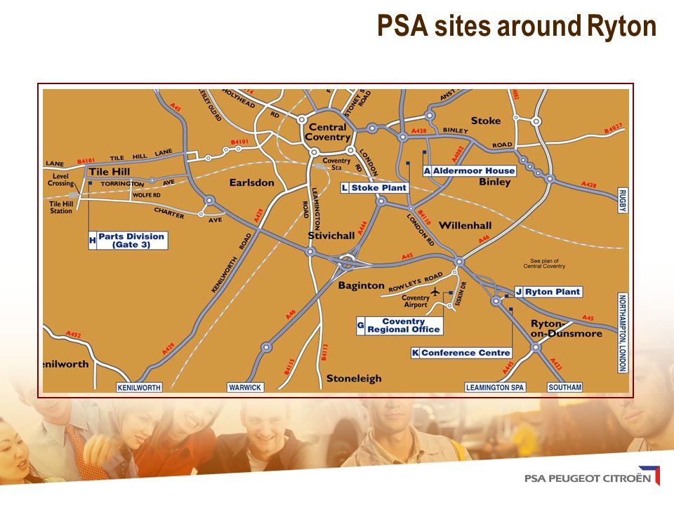 PSA sites around Ryton