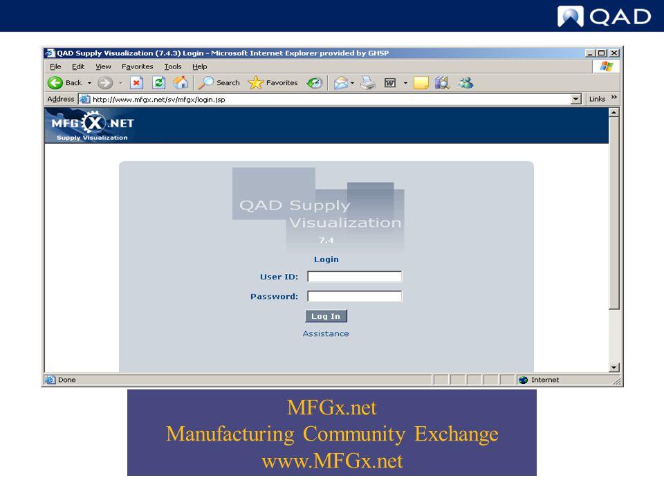 MFGx.net Manufacturing Community Exchange www.MFGx.net
