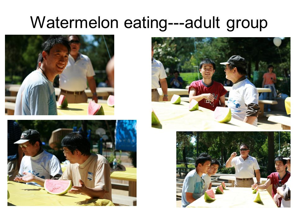 Watermelon eating---adult group