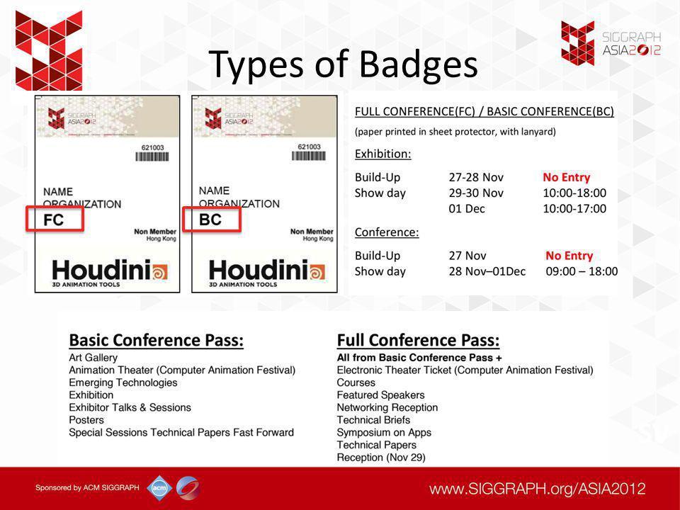 Types of Badges SV