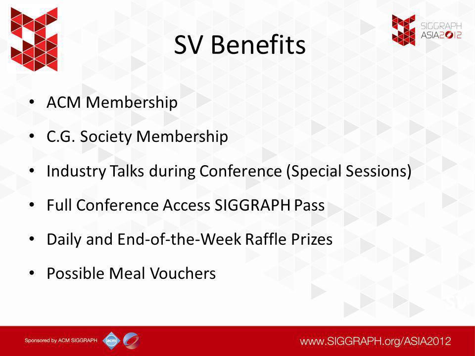 SV Benefits ACM Membership C.G.
