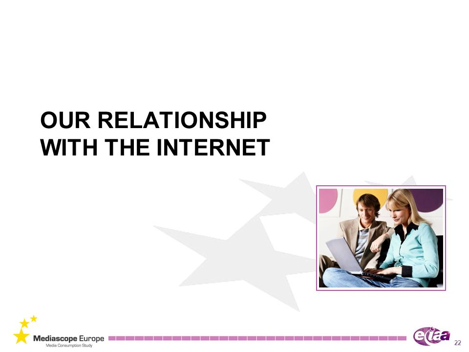22 OUR RELATIONSHIP WITH THE INTERNET
