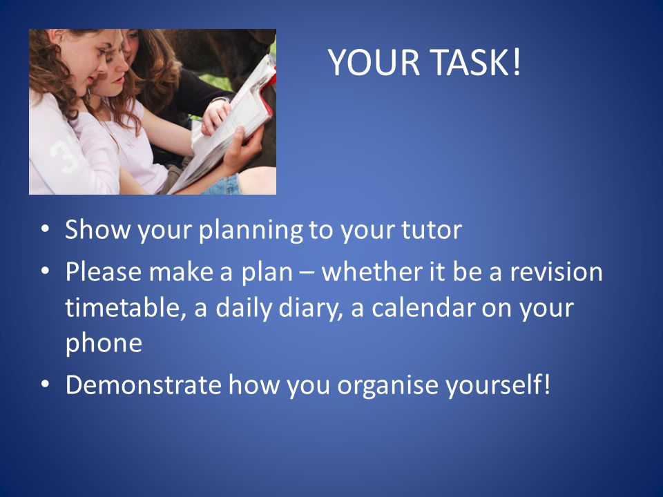 YOUR TASK.