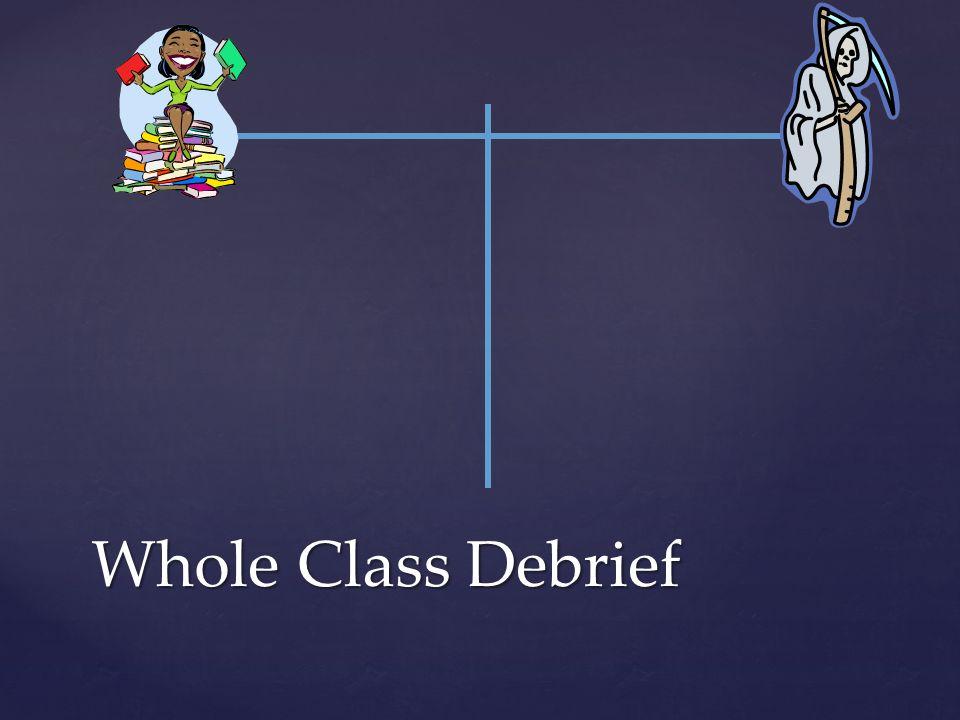 Whole Class Debrief