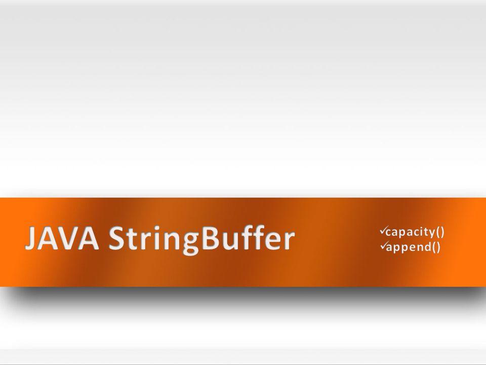 What is StringBuffer.