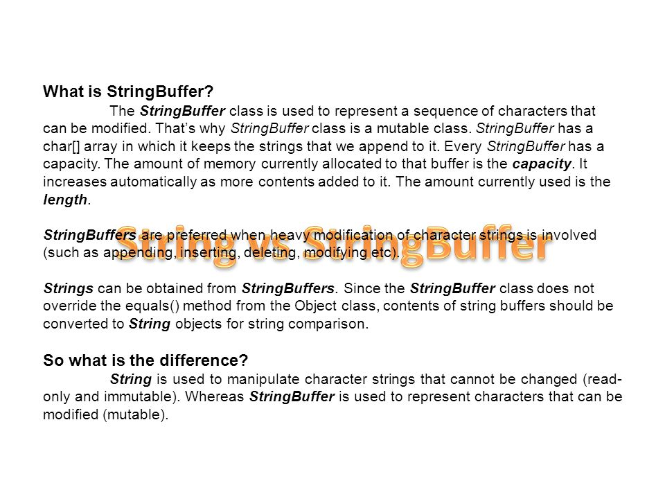 What is StringBuffer.