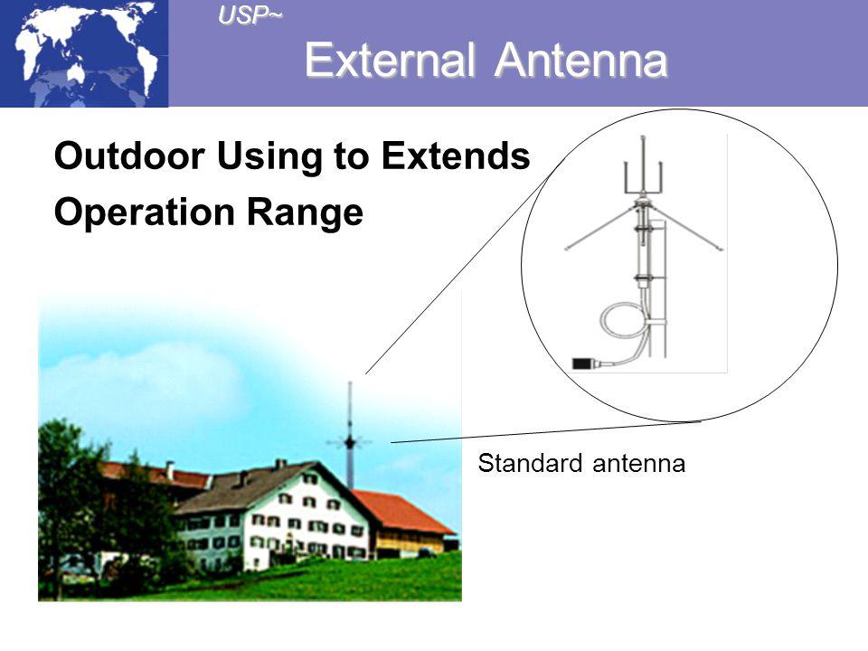 USP~ External Antenna Outdoor Using to Extends Operation Range Standard antenna