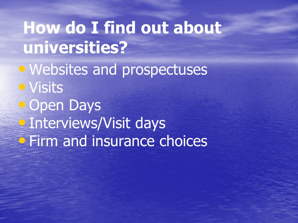 How do I find out about universities.