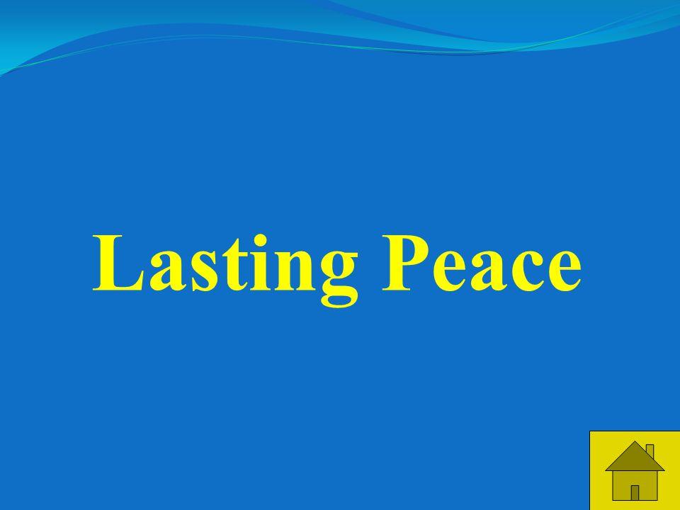 23 Lasting Peace