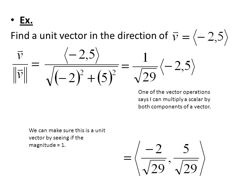 Vector Operations: (Add the components.)
