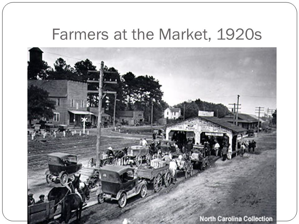 Farmers at the Market, 1920s