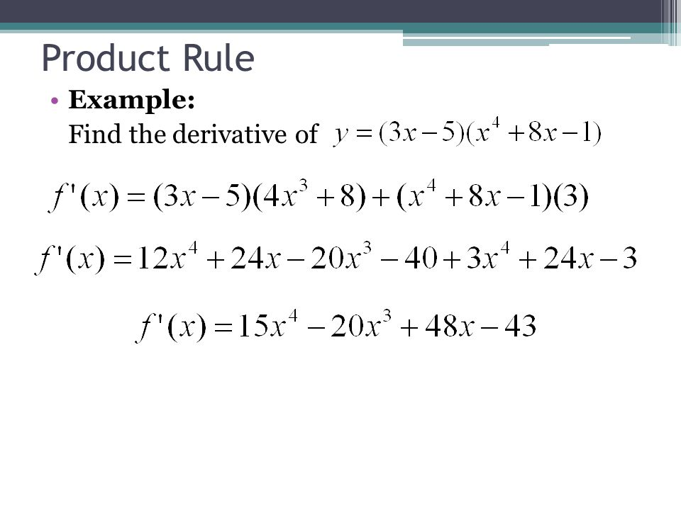 Product Rule Examples Choice Image Example Cover Letter For Resume
