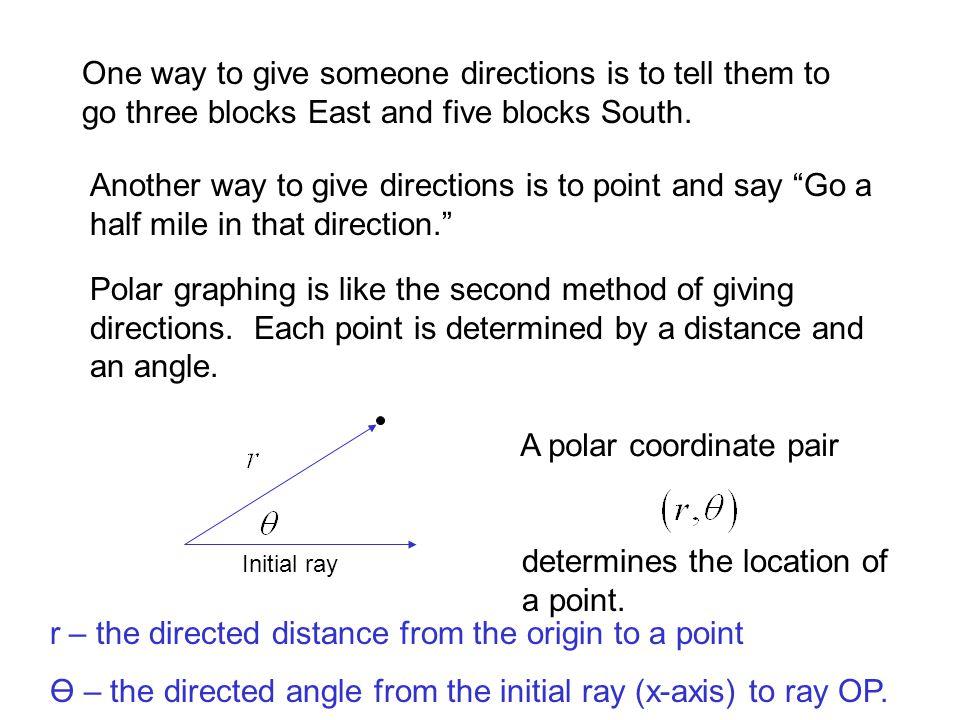 CONVERTING TO RECTANGULAR COORDINATES: 1.) x = r cos Θy = r sinΘ 2.)