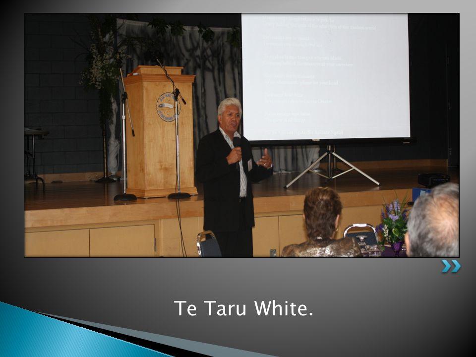 Te Taru White.