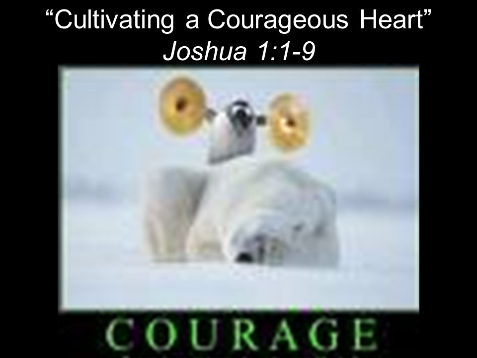 Cultivating a Courageous Heart Joshua 1:1-9