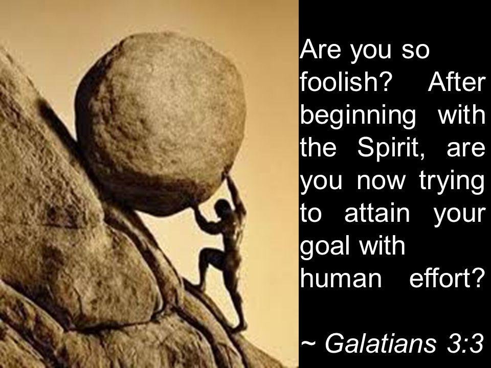 Are you so foolish.