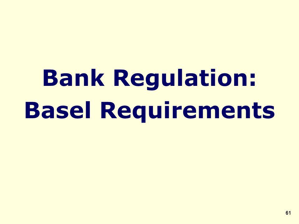 Bank Regulation: Basel Requirements 61
