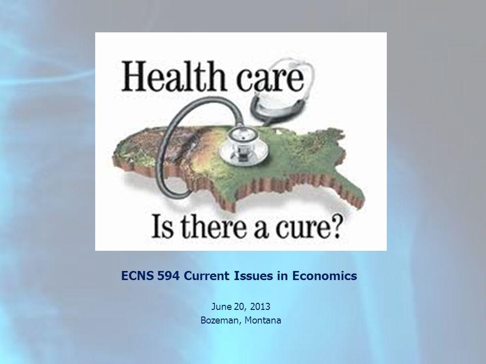 ECNS 594 Current Issues in Economics June 20, 2013 Bozeman, Montana