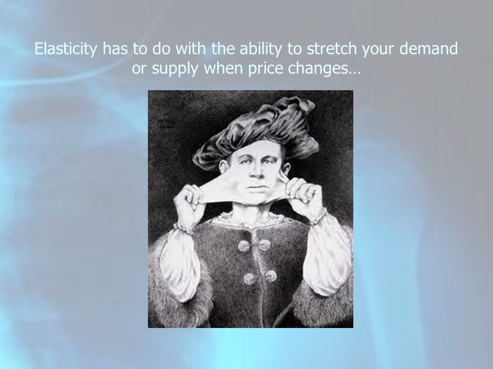Recall in ELM 9 and 11 the concept of a change in the quantity demanded…? A 10% increase in the price of _______ results in a decrease in the quantity demanded of _______% physician price Good health3.5% Poor health1.6% hospital price 1.4% nursing home price 6.9% to 7.6%