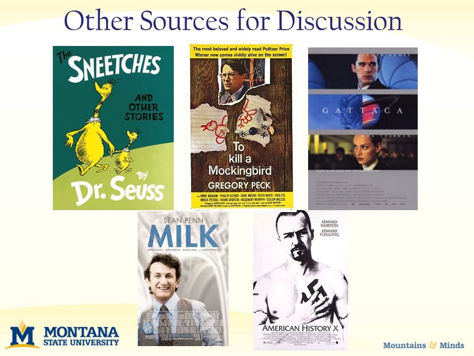 Other Sources for Discussion