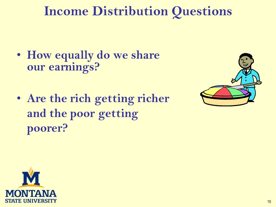 18 Income Distribution Questions How equally do we share our earnings.