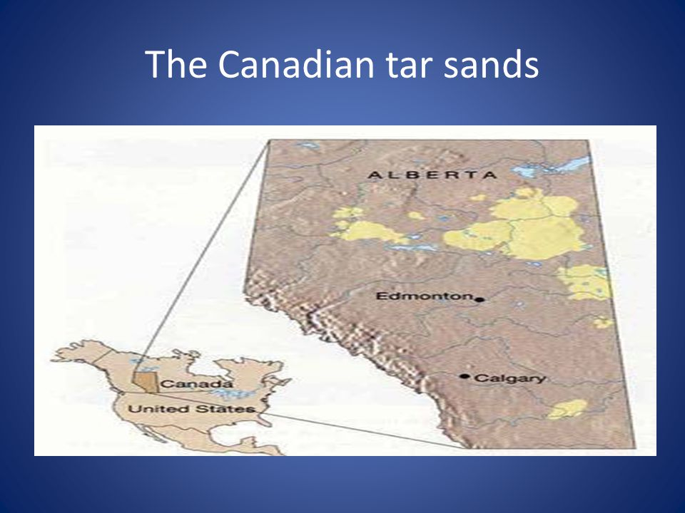 The Canadian tar sands
