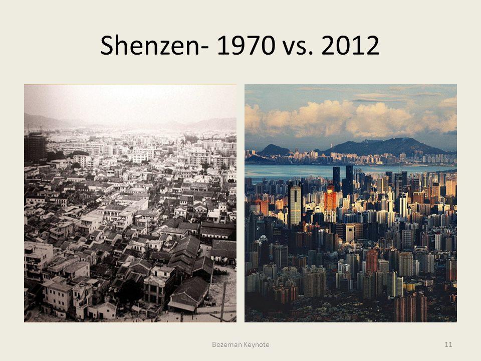 Shenzen- 1970 vs. 2012 Bozeman Keynote11