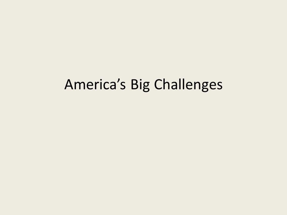 America's Big Challenges